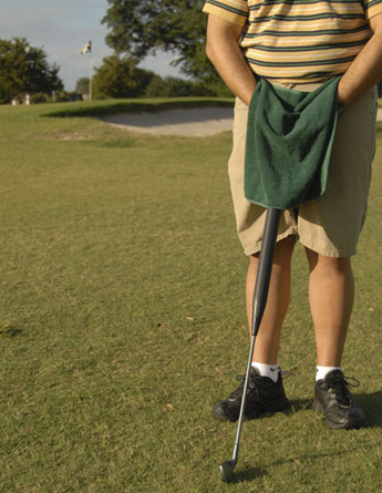 Uroclub, urinal for golfers