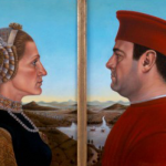Federico Castelluccio's portrait of Tony and Carmela Soprano inspired by portrait of Federico da Montefeltro and Battista Sforza painted by Piero della Francesca