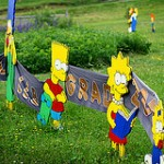 Mother Makes Simpsons Cutouts For High School Graduate Son
