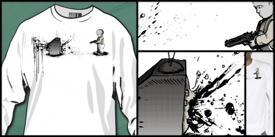 In Self Defense: t-shirt from 200 Nipples limited edition by Jason Spencer of Killer Napkins