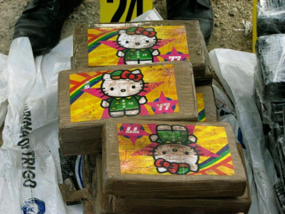 In San Andre, Guatemala, narcotics agents seized 1.2 tons of Hello Kitty cocaine before it was loaded on a plane bound for Mexico