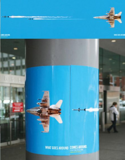 Global Coalition for Peace: What Goes Around Comes Around pillar ad posters