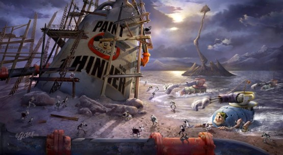"Disney developing ""Epic Mickey"", a video game set in a dystopian ..."