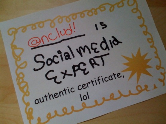 Authentic 'Social media expert' certificate (mringlein on Flickr)