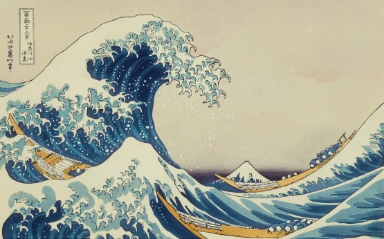 mac os x snow leopard wallpapers The Great Wave off Kanagawa by Katsushika Hokusai