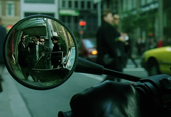trinity_watches_neo_get_arrested_within_dream_orb_rear-view_mirror_the_matrix_16m_50s_lowres