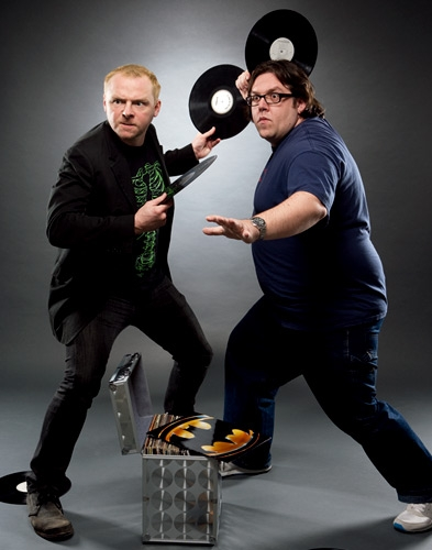 imon Pegg and Nick Frost shaun of the dead empire magazine 20 photo shoot