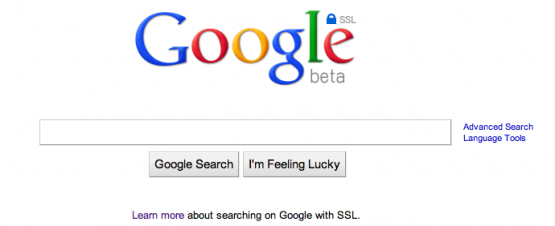 google web search ssl beta https june 2010