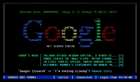 Google BBS Terminal
